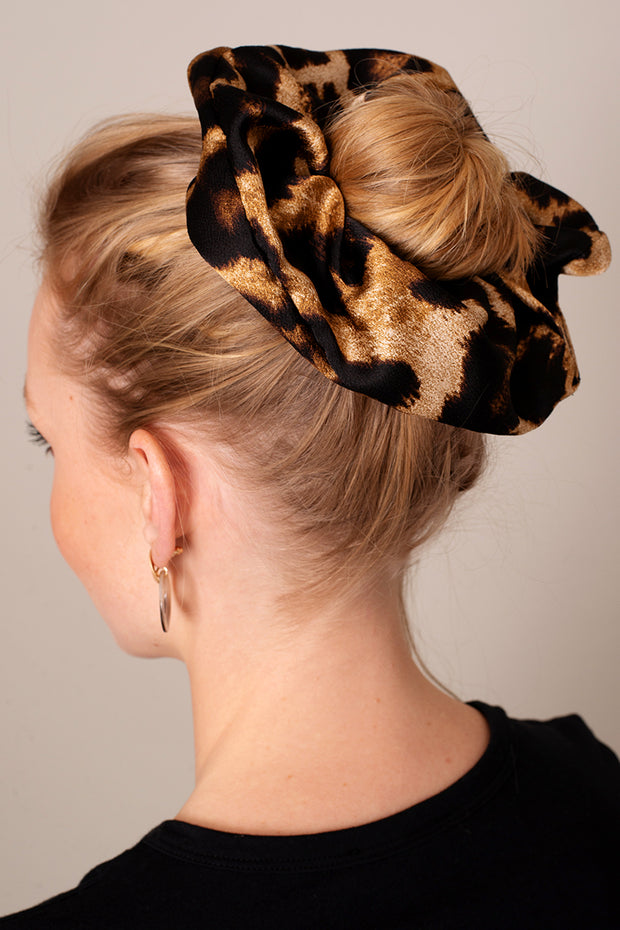 Leopard Print Giant Hair Scrunchie