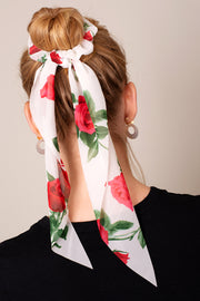 Floral Print Ponytail Scrunchies
