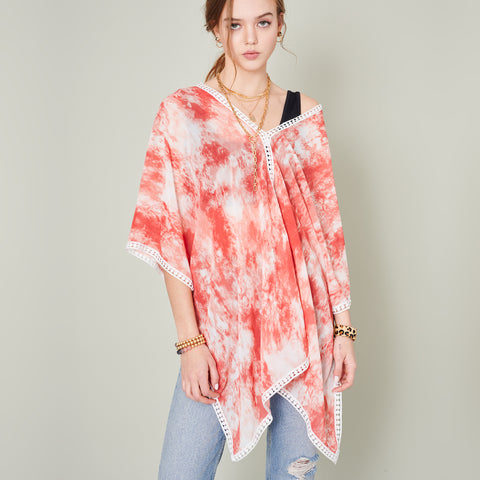 Tie Dye Print Cover Up