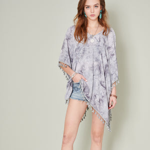 Tie Dye Tassels Cover Up