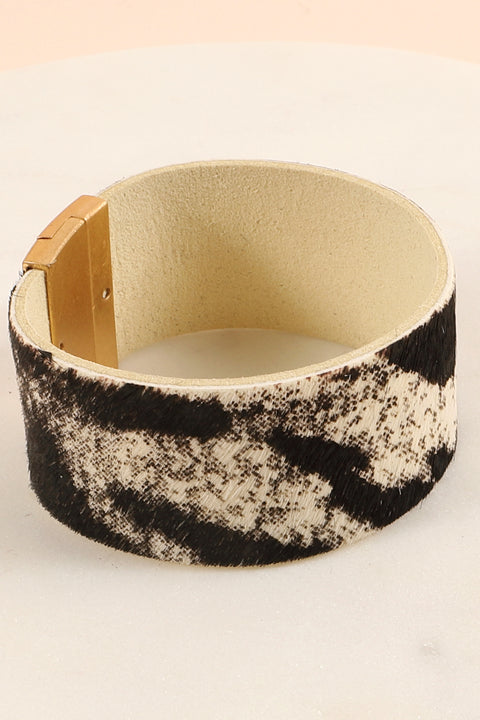 PU Leather Calf Hair Bracelet