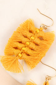 Tassels Seed Beads Dangling Earrings