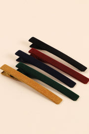 Rectangular Velvet Hair Clips