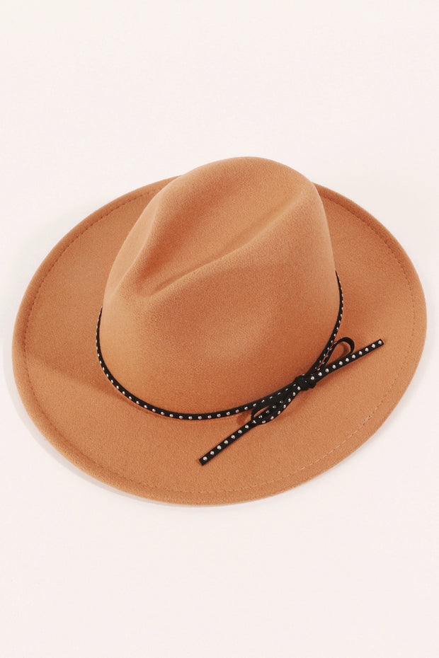 Felt Bow String Fedora Hat