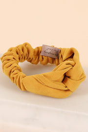 Twisted Solid Corduroy Hair Scrunchy