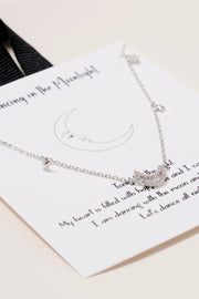 Crescent Moon and Star Station Necklace