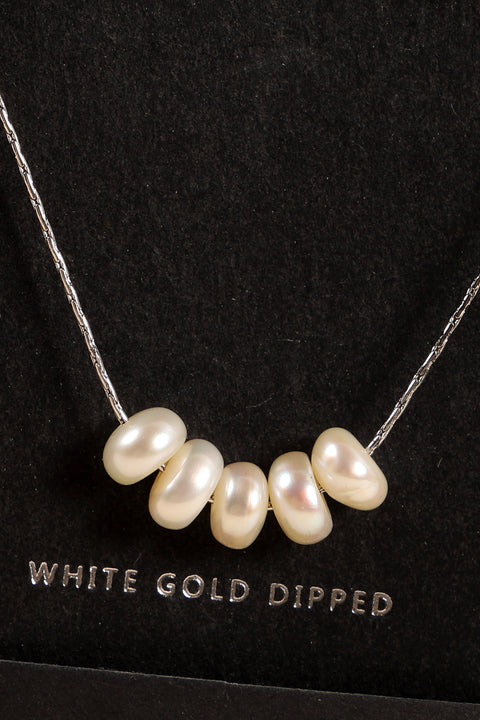 Secret Box Pearls Gold Dipped Short Necklace