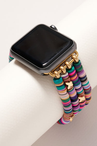 Small Rubber Beads Butterfly Layered iWatch Band