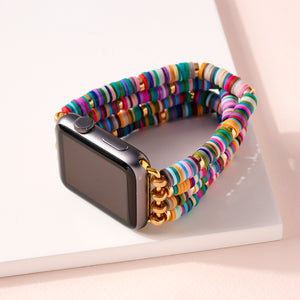Rubber Beaded Layered iWatch Band Small