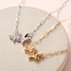 Butterfly Charms Chain Linked Necklace
