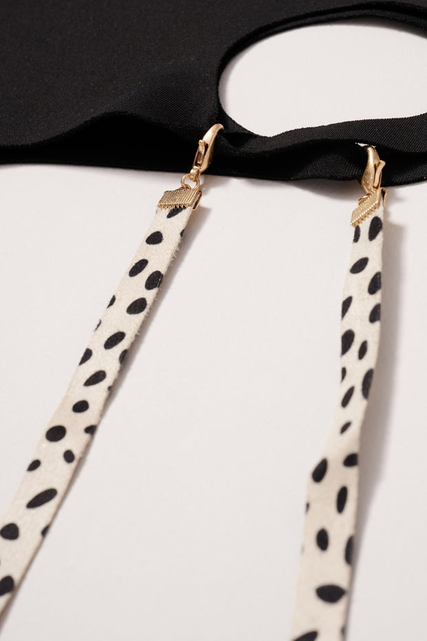 Cheetah Print Suede Mask Lanyards