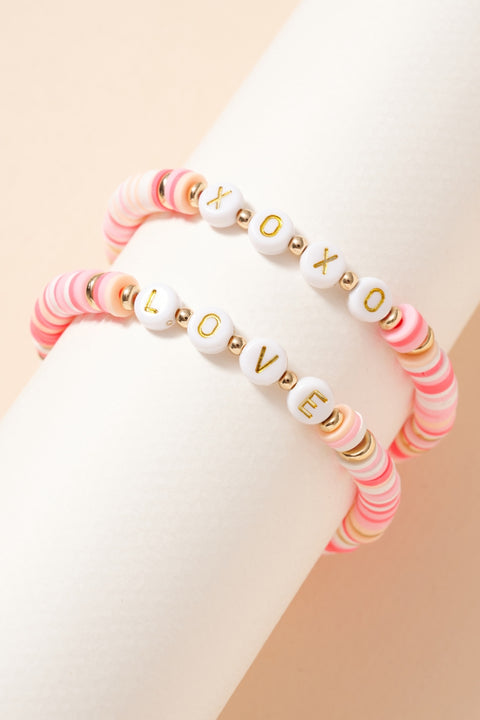 Inspirational Rubber Beaded Bracelet Set