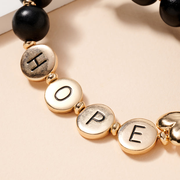 HOPE Inspirational 15 MM Wood Beaded Key Chain