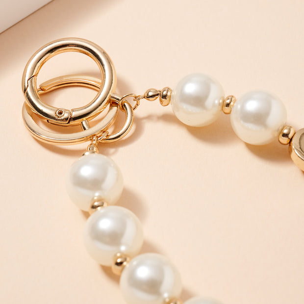 Inspirational 15 MM Pearl Beaded Key Chain