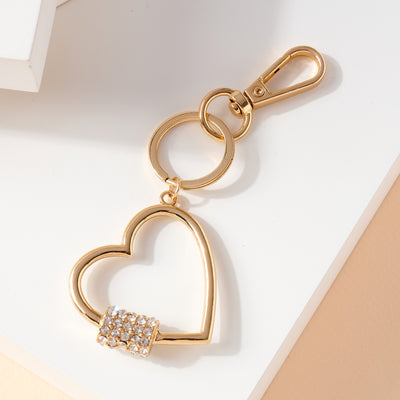 Screw Lock Heart Metal Key Chain