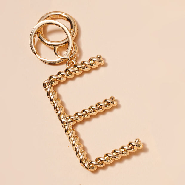 16 Assorted Twisted Metal Initial Key Chain