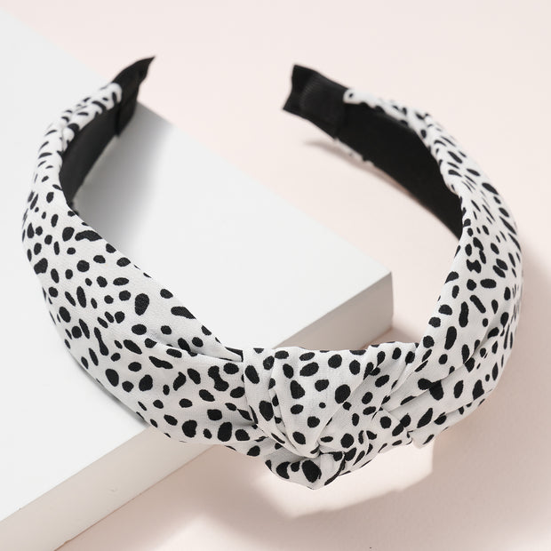 Cheetah Print Knot Head Band