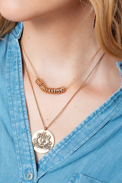 Coin Charm Short Necklace