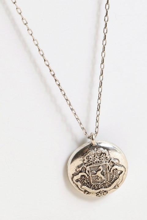 Coin Pendant Short Necklace