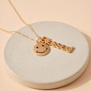 Smiley Face Charms Necklace