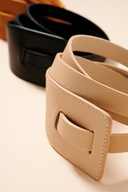 Tie Faux Leather Belt