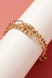Chain Linked Lock Charm Bracelet