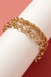 Chain Linked Layered Bracelet