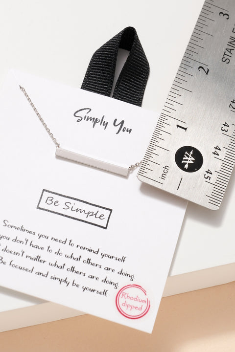 Simply You Sideways Bar Necklace