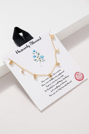 B-L-E-S-S-E-D Letter Charm Gold Dipped Necklace