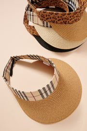 Summer Visor Straw Hat