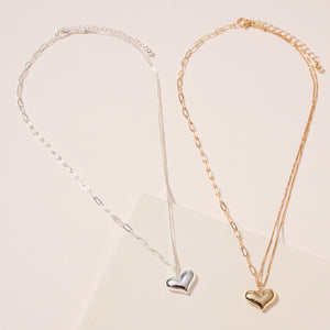 Heart Pendant Short Necklace