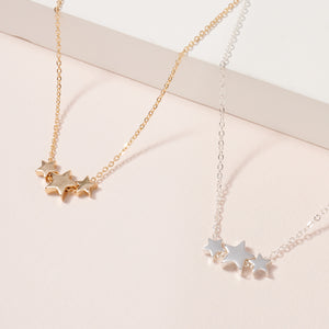 Stars Charms Short Necklace