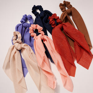 Solid Colors Scarf Pony
