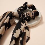 Abstract Print Scarf Pony