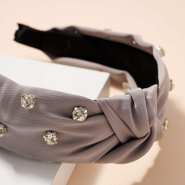 Rhinestones Leather Head Band