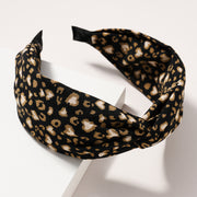 Animal Print Twisted Wide Head Band
