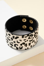 Animal Print Calf Hair Bracelet