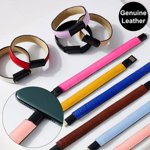 Solid Leather iPhone Charger Bracelet