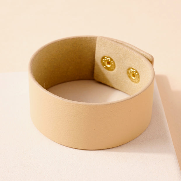 Solid Genuine Leather Bracelet