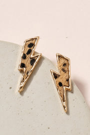 Thunder Animal Print Calf Hair Stud Earrings