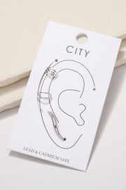 Metal Ear Cuff Earrings Set