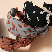 Abstract Print Twist Head Band