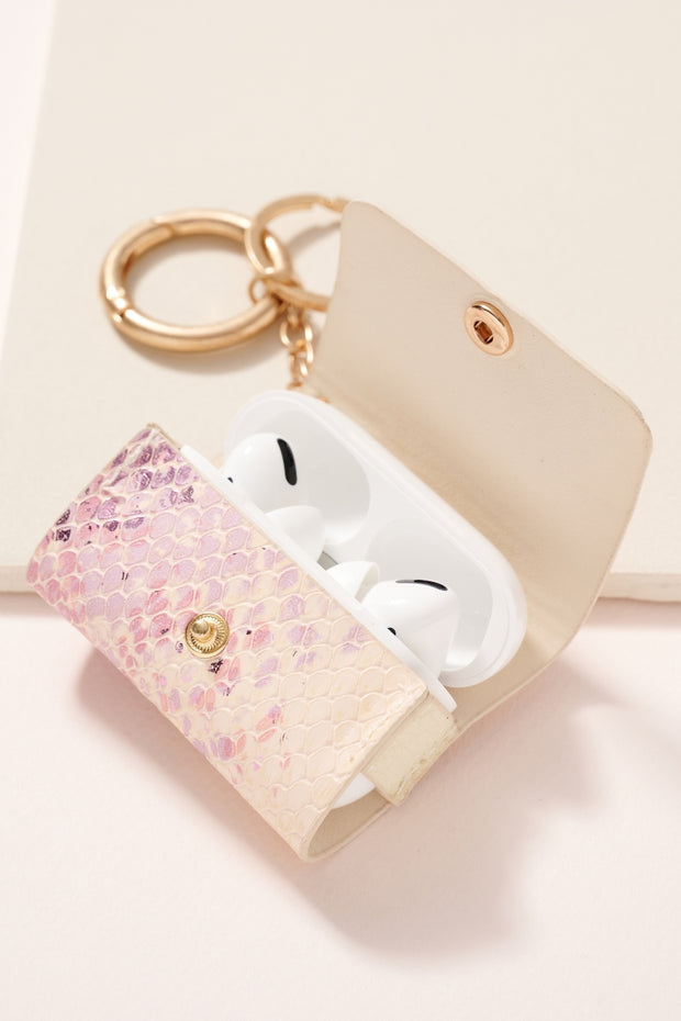 Snake Skin Leather AirPod Pro Case