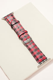 Buffalo Print Leather iWatch Band Large