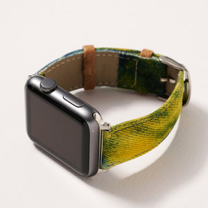 Tie-Dye Denim iWatch Band for 42-44 mm Large