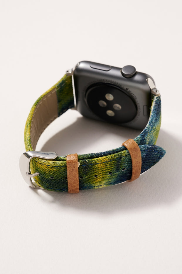 Tie-Dye Denim iWatch Band for 42-44 mm Large 1