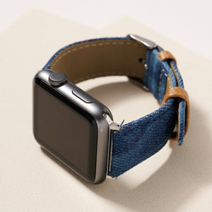 Tie-Dye Denim iWatch Band for 38-40 mm Small