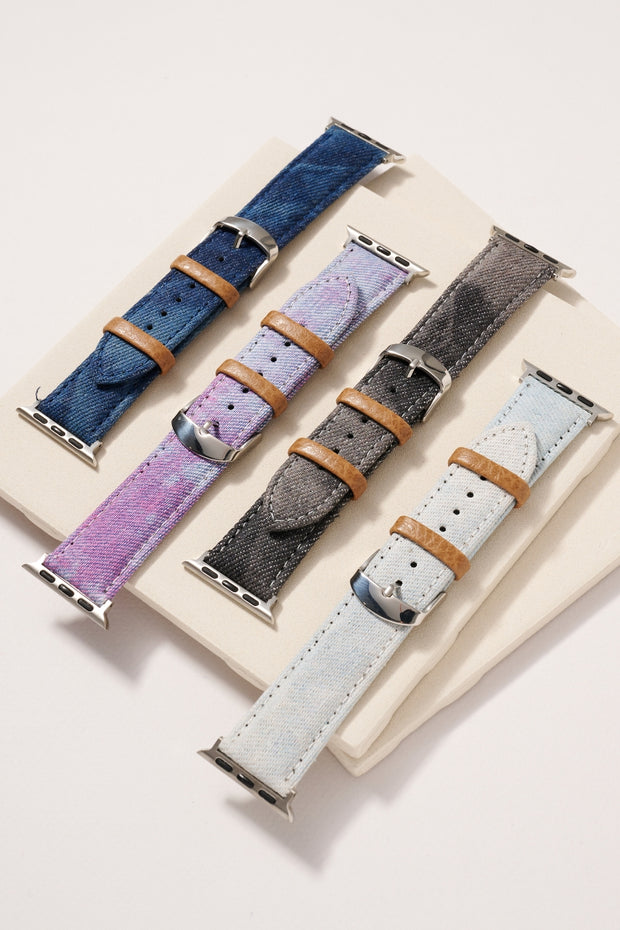 Tie-Dye Denim iWatch Band for 38-40 mm Small 1