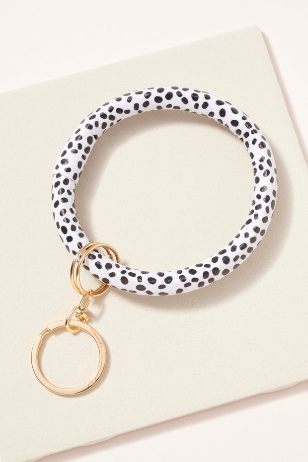 Animal Print Leather Key Ring