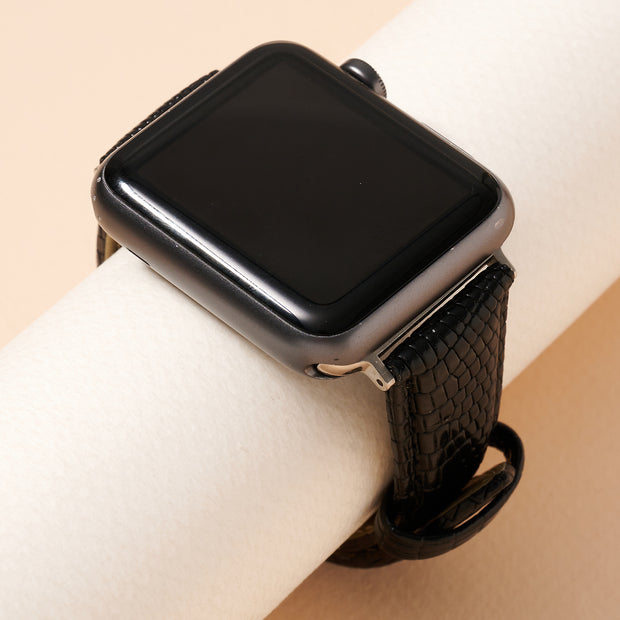 Crock Embossed Leather iWatch Band Small 1